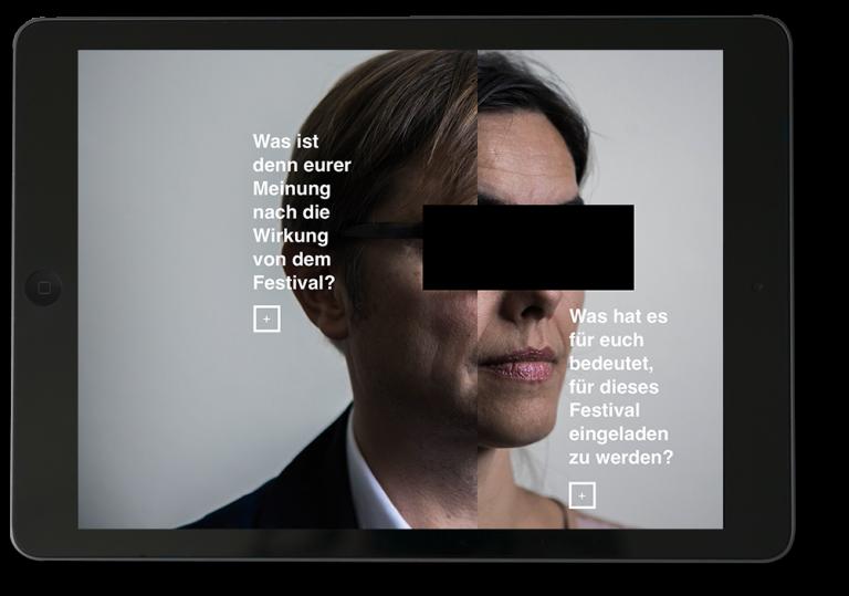 "schmisalidt Magazin-App zum Festival ""Politik im Freien Theater"""